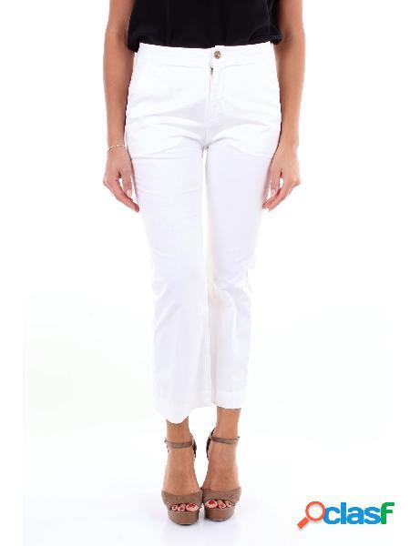 BARBA Barba pantalone chino di colore bianco Pantaloni Chino