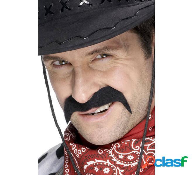 Baffi da cowboy nero per uomo
