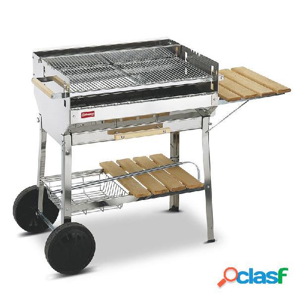 Barbecue A carbone Euro in acciaio inox AISI 430 con una