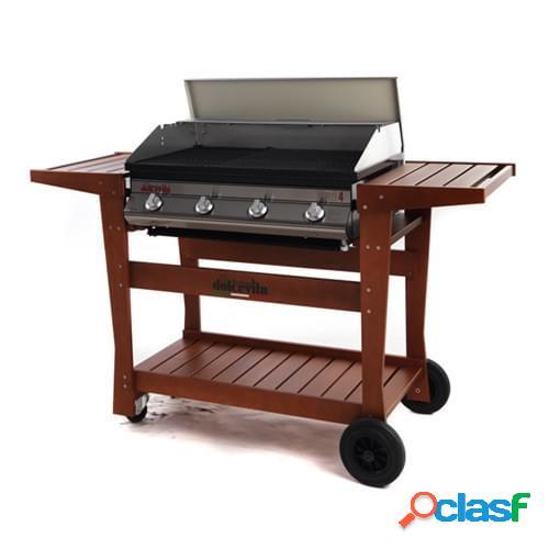Barbecue a gas Dolcevita Euro 4 con carrello in legno di