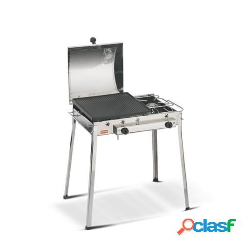 Barbecue a gas Ferraboli mod. Gas Combinato Inox in acciaio