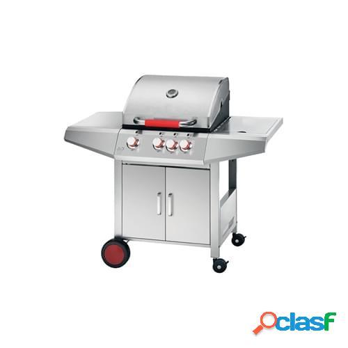 Barbecue a gas Ferraboli mod. New Top in acciaio inox