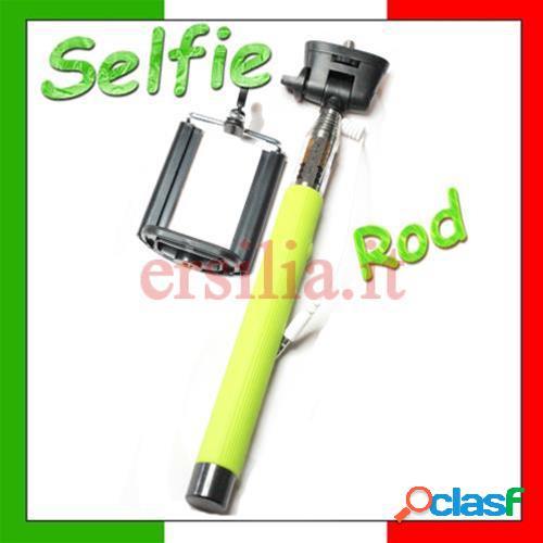 Bastone per selfie monopod telescopico con tasto foto per