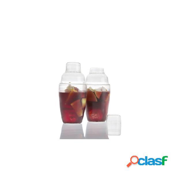 Bicchiere Shaker 3 Pezzi 100% Chef In Plastica Trasparente