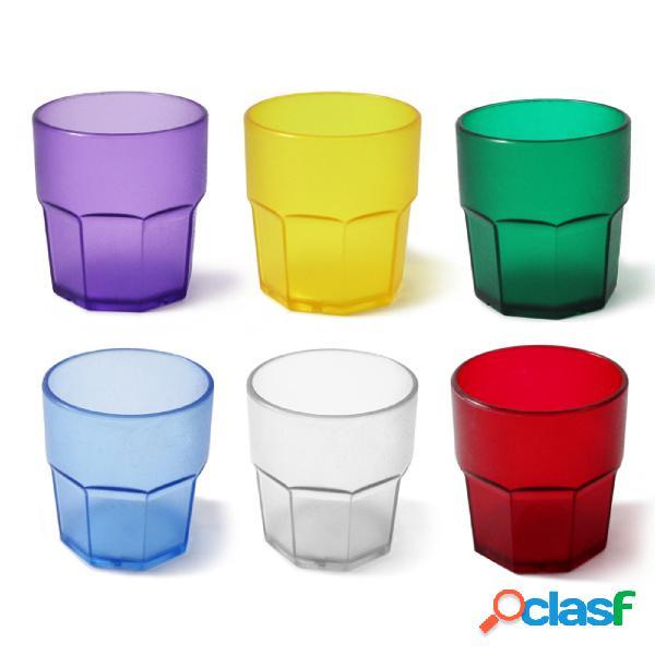 Bicchieri in Policarbonato ottagonale sei pezzi Ø7,7xh8,3