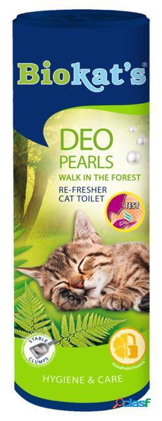 Biokat's deodorante per lettiera gr 700 pearls walk in the