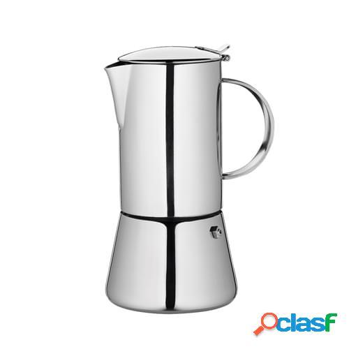 Caffettiera espresso Aida lucida per induzione, 4 tazze