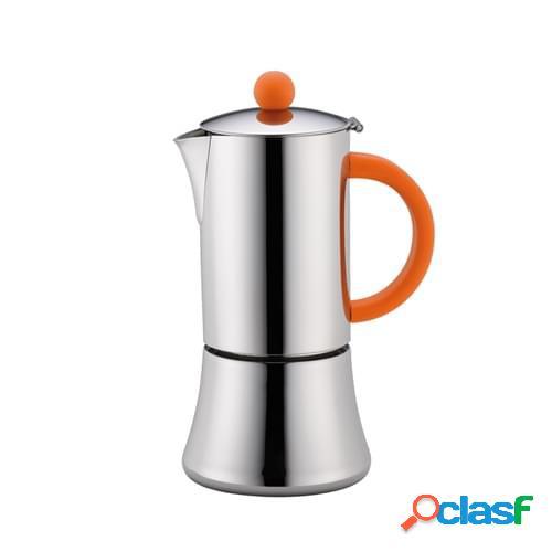 Caffettiera espresso Tiziano lucida per 6 tazze per