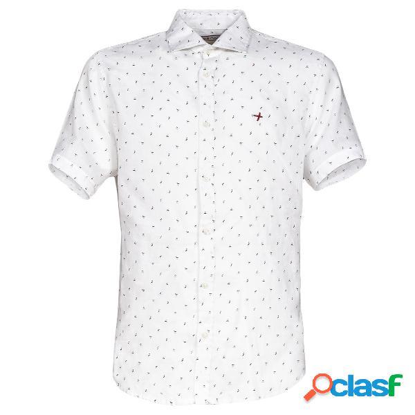 Camicia Canottieri Portofino in lino (Colore: bianco,