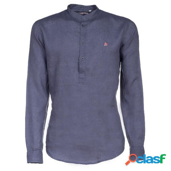 Camicia Canottieri Portofino in lino collo coreana (Colore: