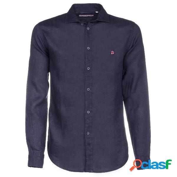Camicia Canottieri Portofino in lino collo francese (Colore: