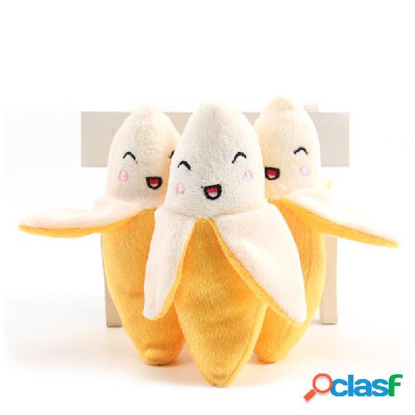 Cane peluche Toy Smile Singolo banana suono giocattolo