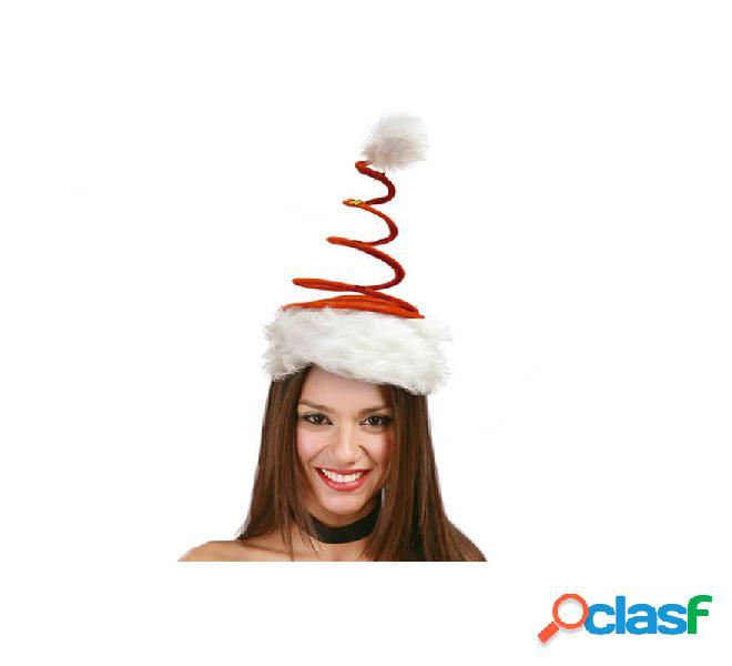 Cappello a spirale o cappello rosso con stelle di babbo