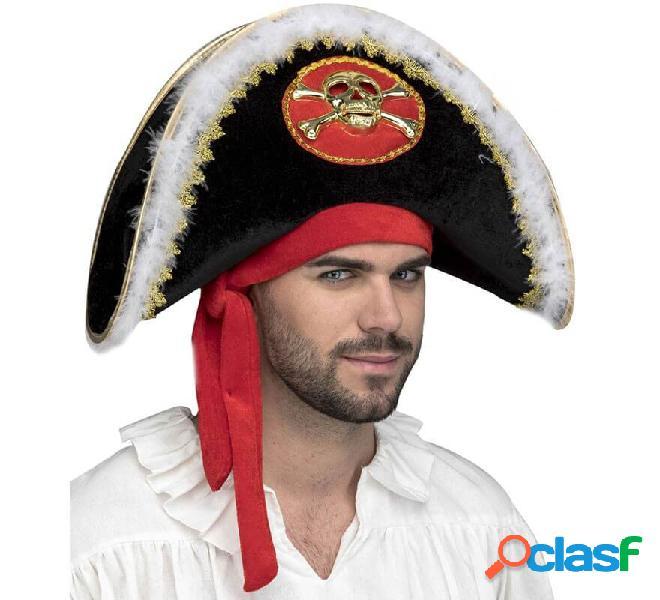 Cappello capitano pirata con teschio