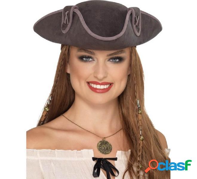 Cappello da capitano pirata grigio