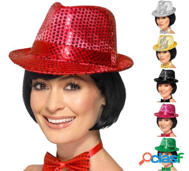 Cappello di feltro con paillettes in vari colori