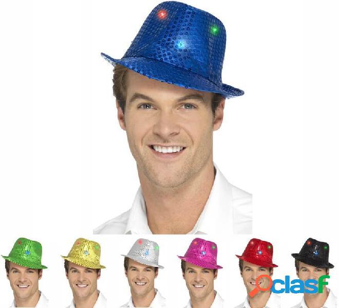 Cappello e luce con paillettes in vari colori