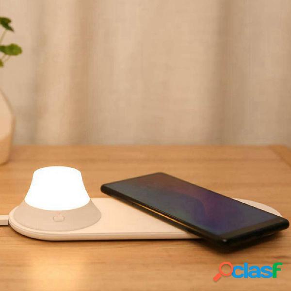 Caricabatterie wireless Yeelight con LED luce notturna