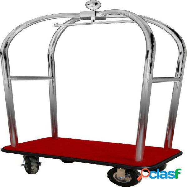 Carrello portavaligie e portabiti in acciaio inox - L 1100