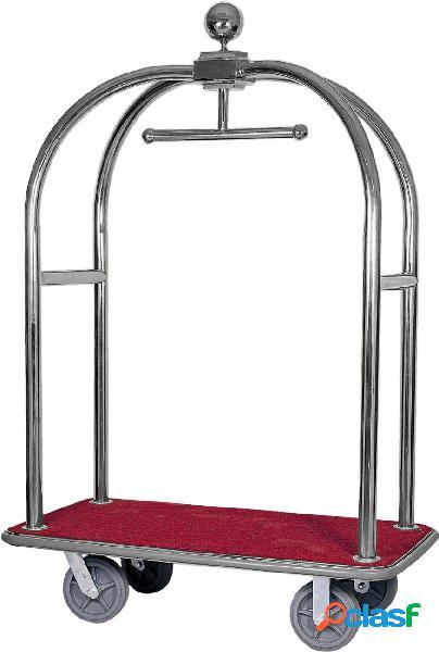 Carrello portavaligie e portabiti in acciaio inox - L 1240