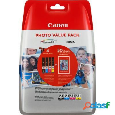 Cartuccia Canon 6508B006 Multipack CLI-551 (Conf. da 4 pz.)
