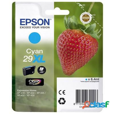 Cartuccia Epson C13T29924010 T29XL Fragola originale CIANO