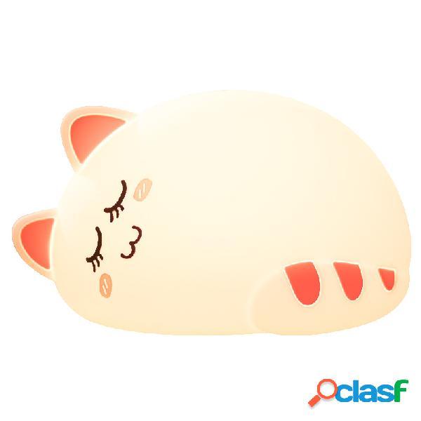 Cat Lampada in silicone per bambini Camera da letto per
