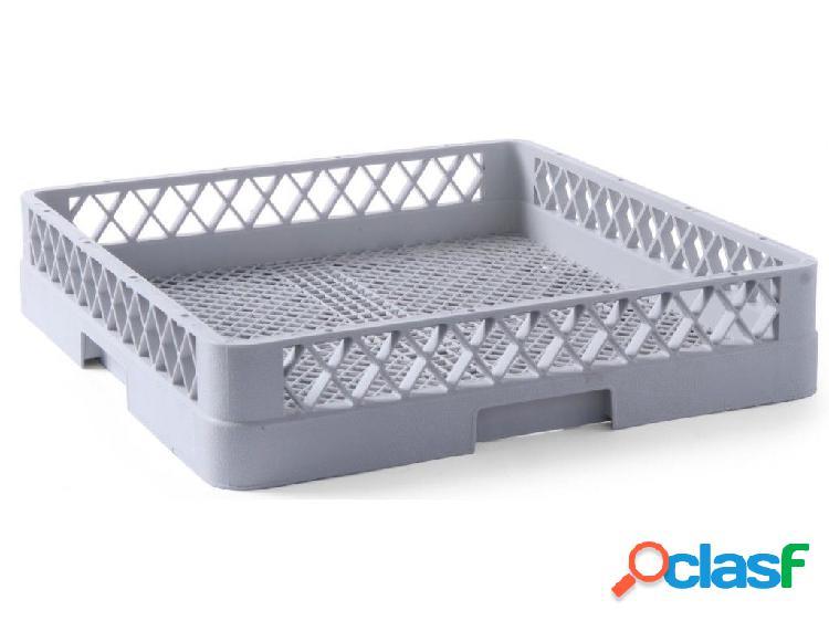 Cestello base vuota per posate 500 mm x 500 mm colore grigio