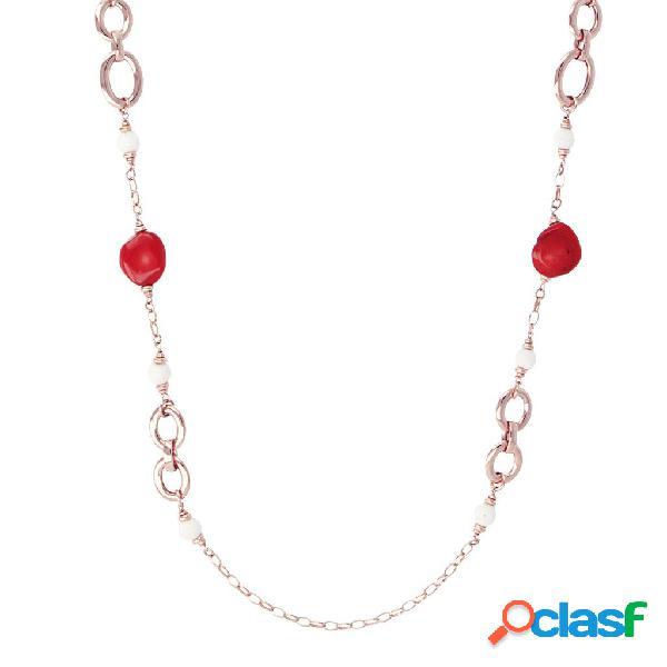Collana in Corallo Rosso | ROSE GOLD / 106.70CM / CORALLO