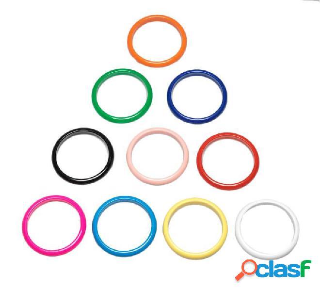 Colori assortiti di bracciali andalusi di diametro 6,8 cm