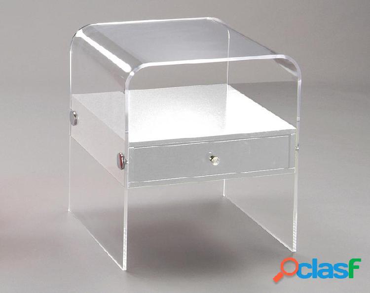 Comodino Tavolino Porta telefono Curvato