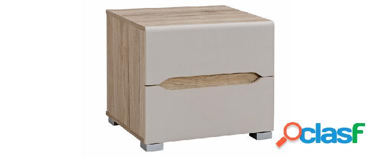 Comodino design legno chiaro e talpa WILLY