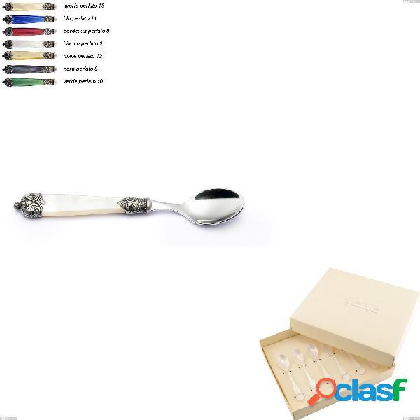 Confezione bomboniera 6 pezzi cucchiaini moka Mirage,