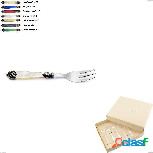 Confezione bomboniera 6 pezzi forchettine da dolce Mirage,