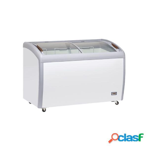 Congelatore a pozzetto refrigerazione statica, 400 litri e