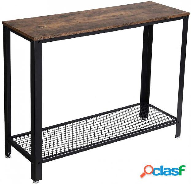 Consolle Tavolo da ingresso Stile Industriale Legno e Ferro