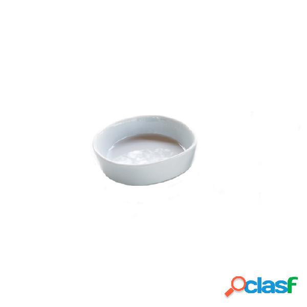 Coppetta Tonda Pebble In Porcellana Bianca Cm 7,5 - Bianco