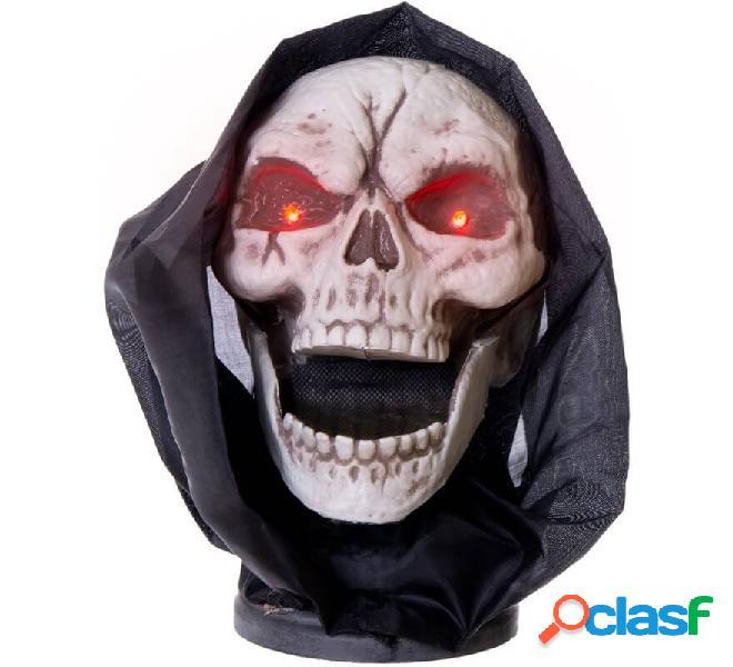 Cranio con movimento, luce e suono di 17x24x21 cm