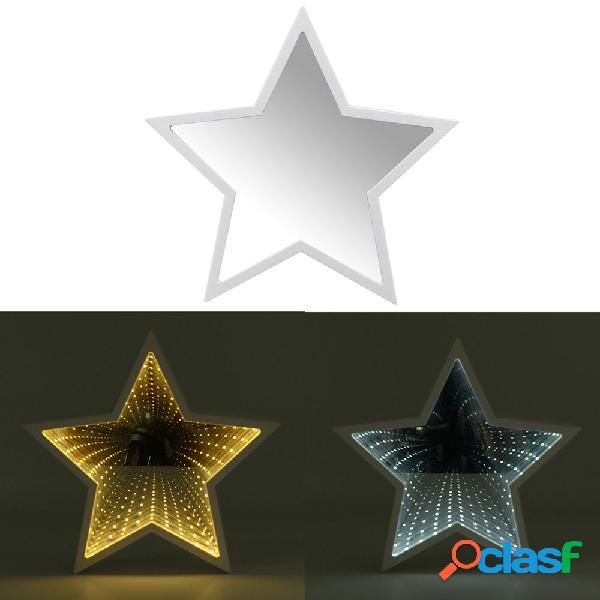 Creativo Cute Star Mirror Lampada LED Tunnel Night Light per