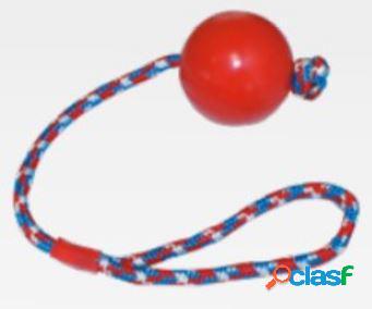 Croci gioco per cani palla con corda cm 6,5