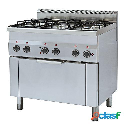 Cucina a gas con 5 fuochi, forno elettrico a convezione per