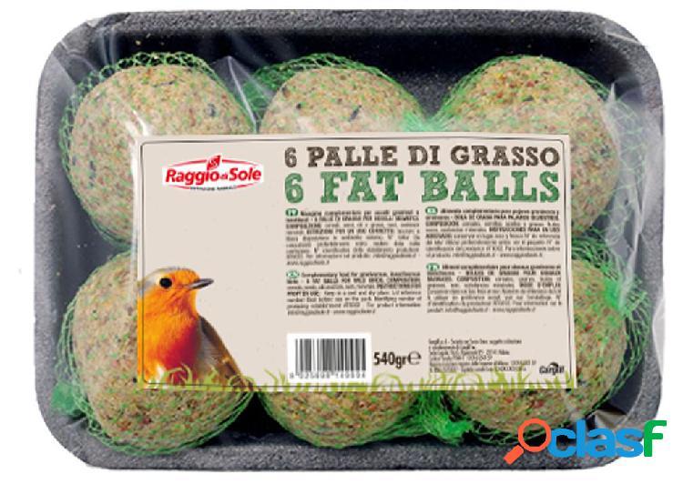 Fly palle di grasso fat balls gr 540 pezzi 6 - alimento