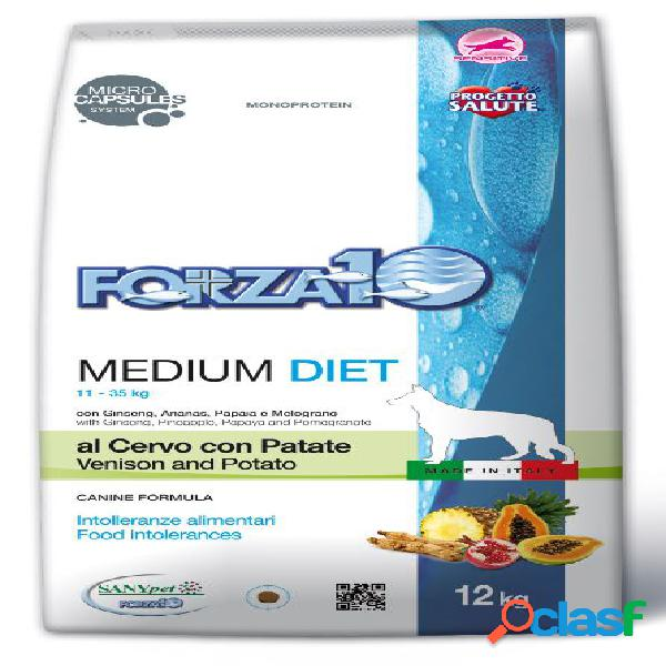 Forza10 medium diet cervo e patate kg 12 (alimento per