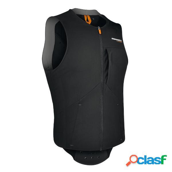 Gilet con protezioni Komperdell Air (Colore: nero-arancione,