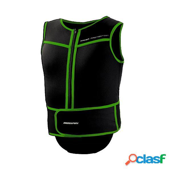 Gilet protector Energiapura Turtle (Colore: nero-verde fluo,