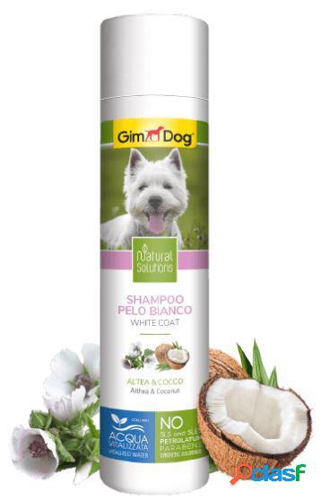 Gimdog natural solutions shampoo per cani 250 ml pelo bianco