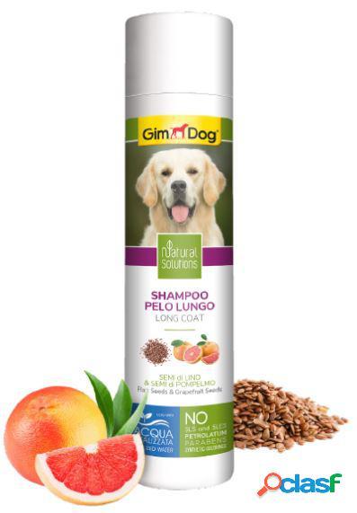 Gimdog natural solutions shampoo per cani 250 ml pelo lungo