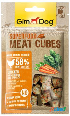 Gimdog snack per cani superfood cubes gr 70 pollo carote e