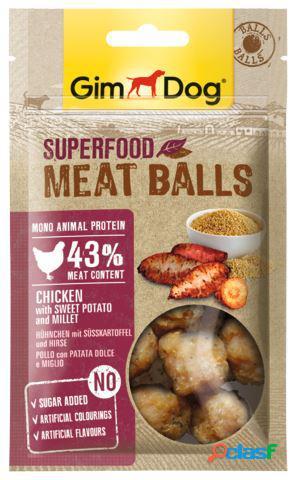Gimdog snack per cani superfood meatballs gr 70 pollo patata