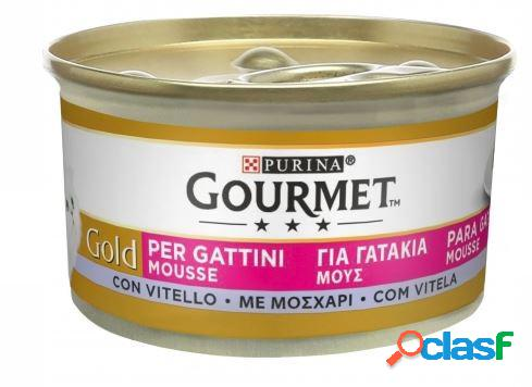 Gourmet gold gr 85 mousse per gattini con vitello
